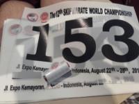 Startnummer für die Karate WM