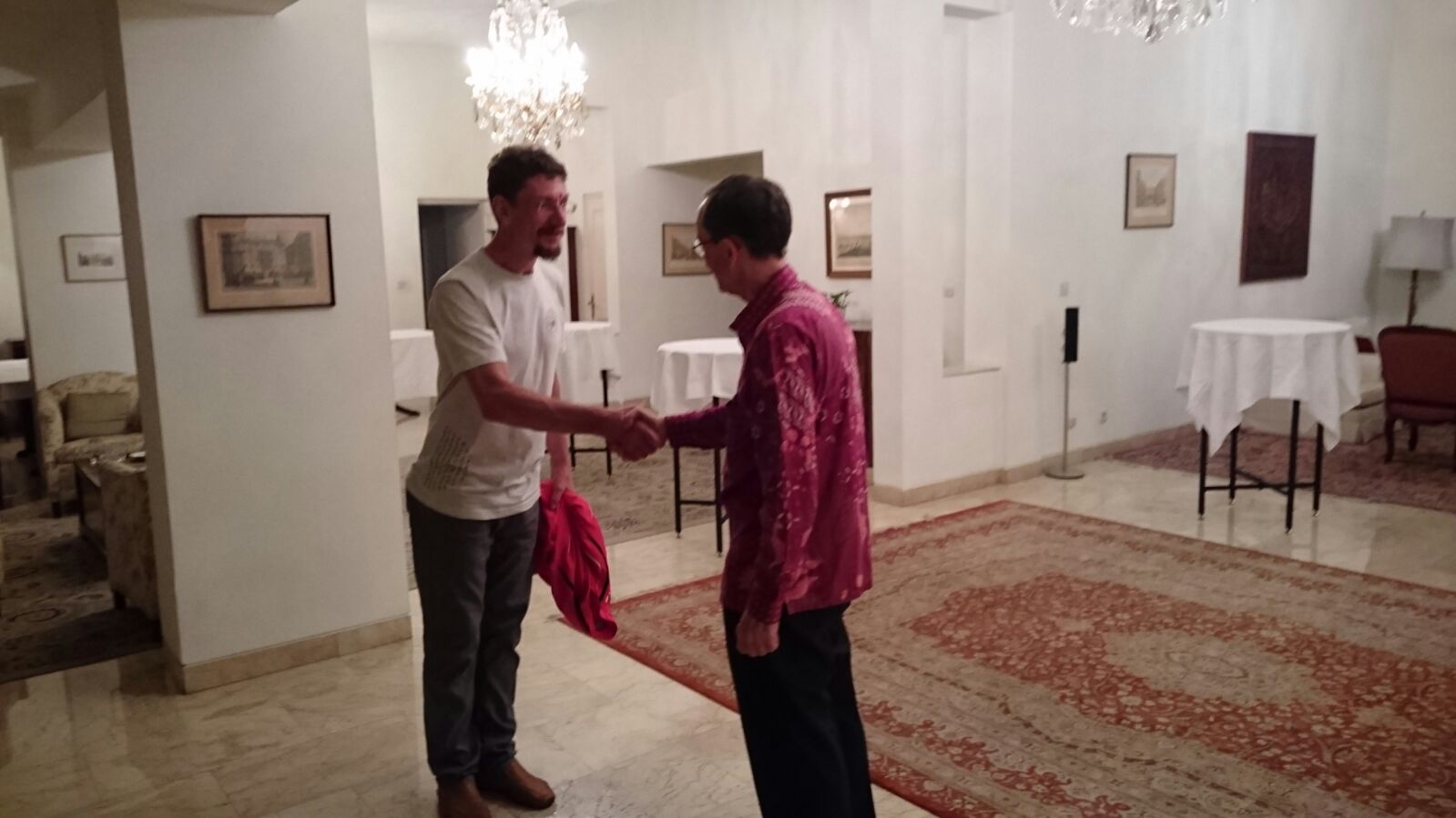 Karateteam in der österreichischen Botschaft